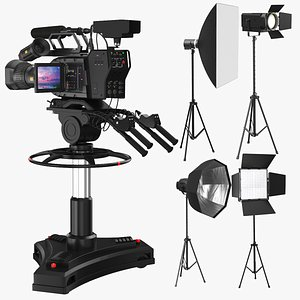 3D model photo real studio equipment