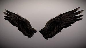 wings angel dark 3D