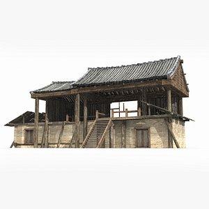 3D ancient tea dwellings model