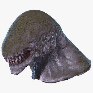 3D monster beast head creature