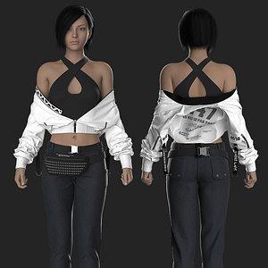 3D model Modern Female Outfit 6 Marvelous Designer project
