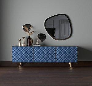 3D drawer modern sideboard