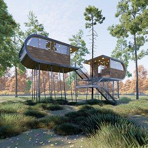 Modern Tree House 2 3D model