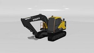 3D Volvo EC140E Excavator