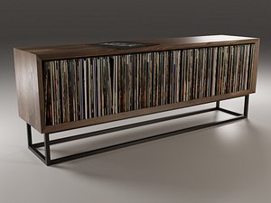 realistic vinyl lp storage 3D model