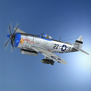 3D Republic P-47D Thunderbolt - Miss Caesar model