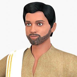 3D Indian Villager Sadashiv