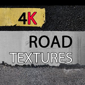 3D road 4k asphalt model