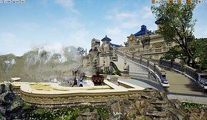 The Old Summer Palace China Chinese The Yuanmingyuan Changchun Garden Qichunyuan UE4 VR ground to ma 3D model