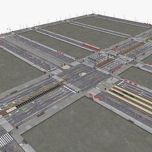 3D road city model