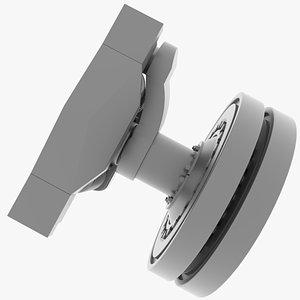 e-100 suspension 3D model