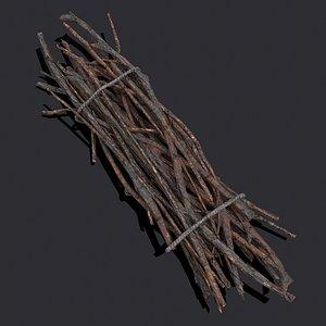 Wood Sticks Bundle 3D model