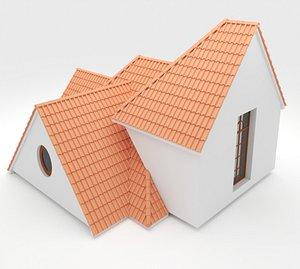 Realistic Roof Shingles 3 3D model