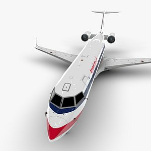 eagle bombardier crj 200 3D model