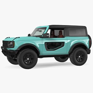 3D Two Door 4X4 SUV Rigged model