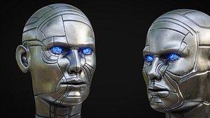 Female Robot Head 3D