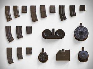 Magazine Attachments Pack - PBR - Clip - Weapon - Gun - LMG - Sniper – Rifle – Pistol 3D