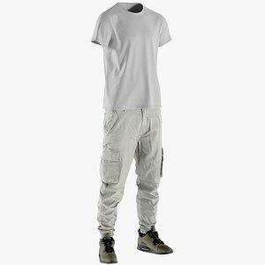 3D pants sneakers tshirt