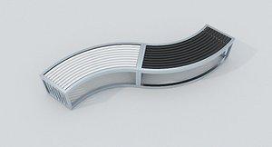 3D Metal Bench