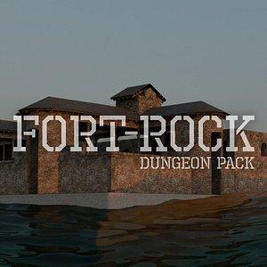 3D Fort Rock - Asset Pack - Unity HDRP model