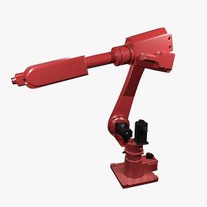 Mechanical industrial robotic arm 3D model