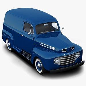 Ford F-1 Panel Truck 3D model