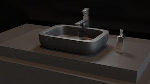 decoration sink washbasin 3D model