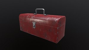 Old Red Toolbox 3D model