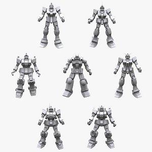 gundam mobile suit 3D model