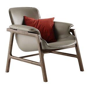 3D model Frigerio Salotti Arianna armchair