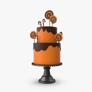 3D Halloween Cake with Candy Decor