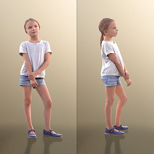 3D 10034 Lilly - Young Girl Standing Holding Her Arm