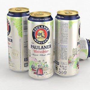 3D Beer Can Paulaner Weissbier 500ml 2021