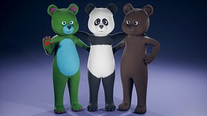 3D FurSuit Bear model