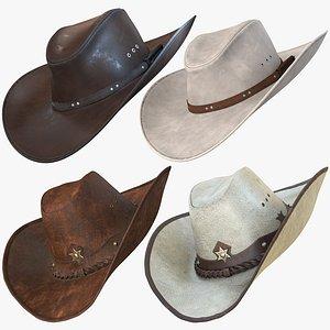 realistic cowboy hat pbr 3D
