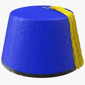 traditional arabic blue fez model