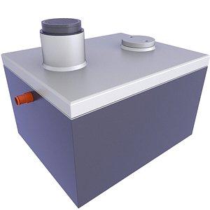Underground Precast Concrete Septic Tank 12 3D