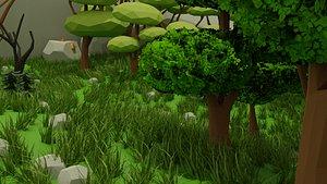 nature dungeon scene tree 3D model