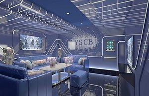 3D KTV bar box box big box entertainment club volume style science fiction science and technology sense model