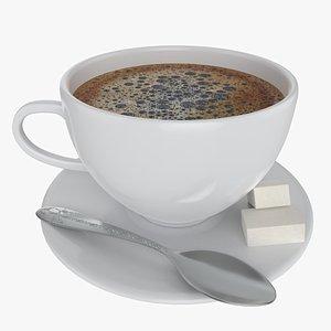 CoffeeCupwithSugarandSpoon model