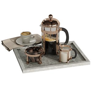 3D Coffee French set 4