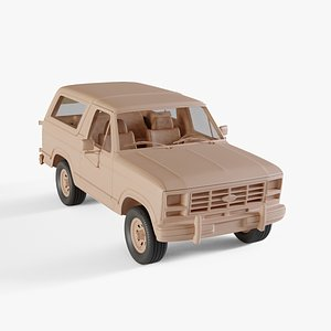 1982 Ford Bronco 3D model
