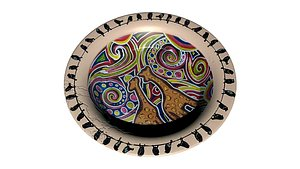 3D Decorated Plate