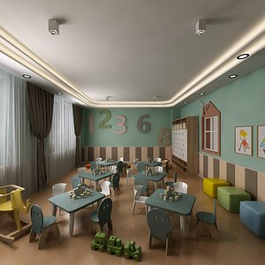 daycare room classroom 3D model
