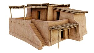 3D model shelter house building