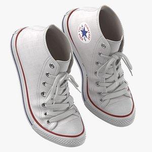 Basketball Shoes Bent White 3D model