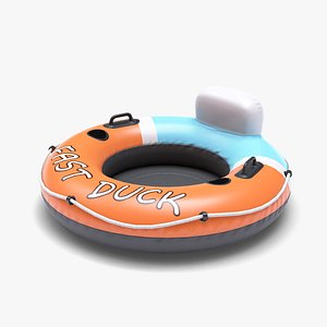 3D inflatable wheel beach toy model