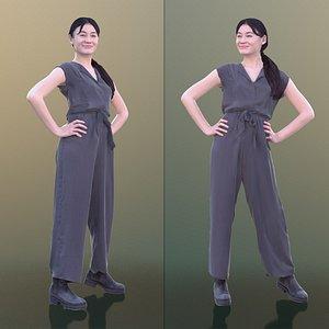 woman young jumpsuit 3D model