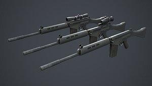 FN FAL Pack 3D model