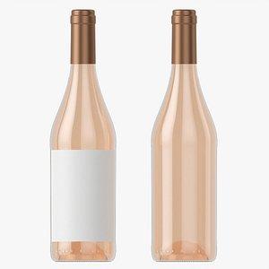 Wine bottle mockup 07 model